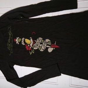 Ed Hardy Dress True Love Black